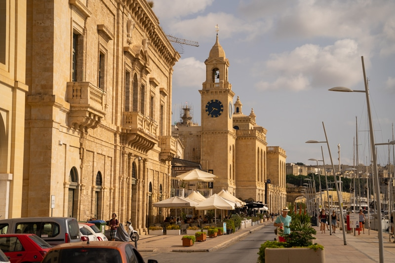 The Birgu Marina, one of the most romantic places to stay in Malta