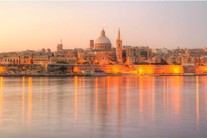 The grand harbour at Valletta, one of the most beautiful places to stay in Malta